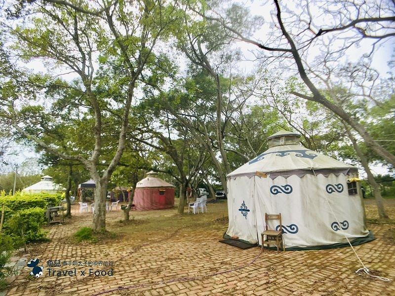 (四露)新豐休閒農場|小木屋、蒙古包、大綠地、夏戲水、免開伙、咖啡屋午茶、輕食早餐,輕便行李露營去 @魚兒 x 牽手明太子的「視」界旅行