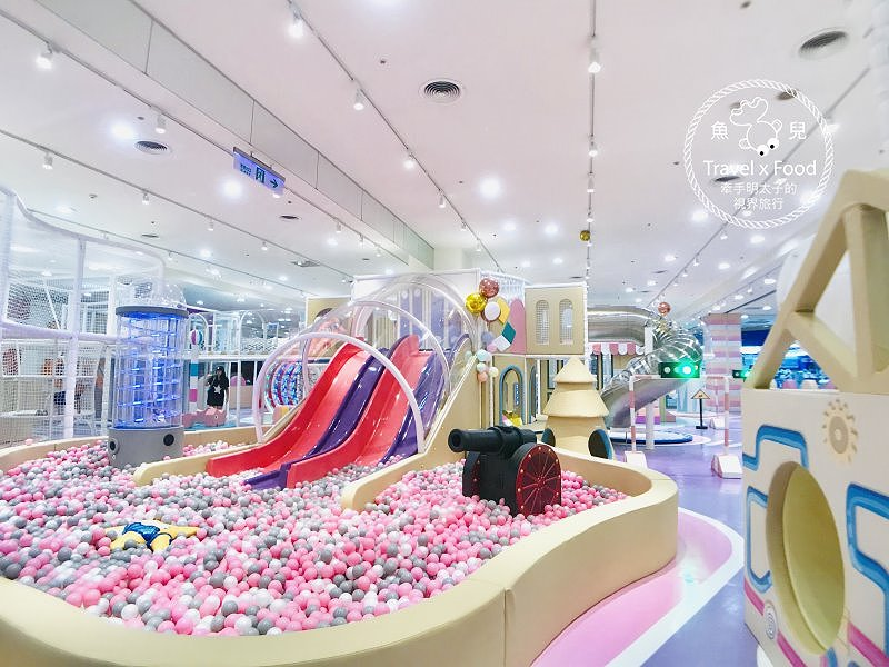 中和環球Kids建築樂園|聲光科技互動設施,七大主題玩透透~ @魚兒 x 牽手明太子的「視」界旅行